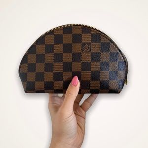 Damier Ebene COPY - real leather makeup bag